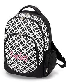 This Black Sadie Personalized Backpack by Star Designs Studio is perfect! #zulilyfinds