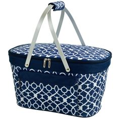 Trellis Collapsible Insulated Basket by Picnic At Ascot