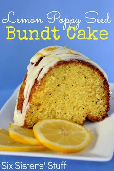 Lemon Poppy Seed Bundt Cake from SixSistersStuff.com- so easy to make!