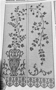 Crochet Curtains, Filet Crochet, Vintage World Maps, Rugs, Home Decor, Towels, Carpet, Cross Stitch, Net Curtains