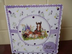 Card using free papers from Making Cards magazine. It was made for a monthly sketch challenge in ther Trimcraft forum.
