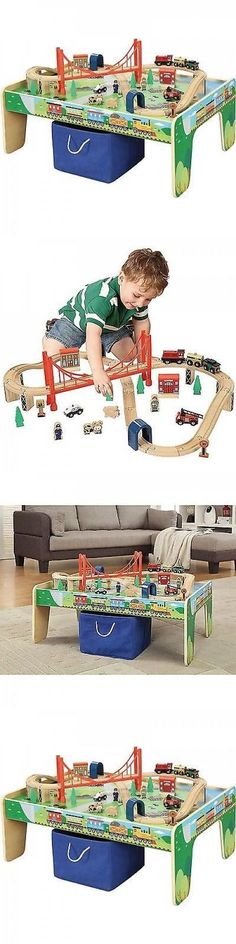 Trains and Vehicles 113518: Kids Train Piece Set Wooden Track Toy ...