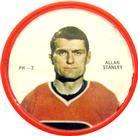 1968-69 Shirriff Coins #PH-3b Allan Stanley Front