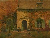 La maison de lartiste au Rouge Cloître by Alfred Théodore Joseph Bastien