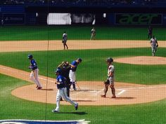 Roger's centre watching the Blue Jays - up to bat my favourite player #11 Kevin Pillar
