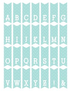 12 free printable templates printable templates pinterest free printable mini alphabet bunting from scrapnfonts spiritdancerdesigns Images