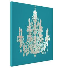 Van Achtergrond pixDezines DIY Kleur/Zilveren Stretched Canvas Print