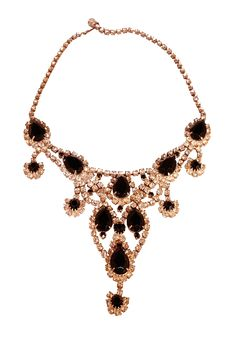 #necklace #gold #black #jewelry #vintage
