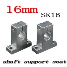6 pcs/lot SK16 SH16A 16mm linear shaft support 16mm Linear Rail Shaft Support XYZ Table CNC parts #Affiliate