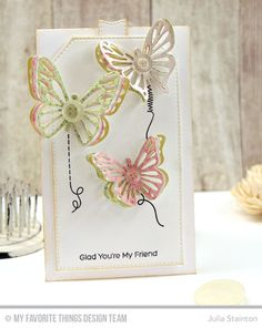 Stitched With Love, Blueprints 12 Die-namics, Flutter of Butterflies - Lace, Stitched Traditional Tag STAX Die-namics - Julia Stainton   #mftstamps