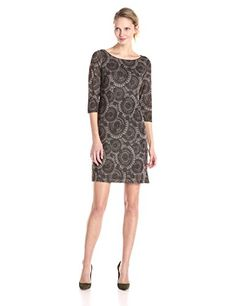 Nine West Women's Printed Abstract Shapes Hatchi Dress, T…