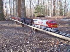 g scale trains | Trains running on the Beachwood Railroad