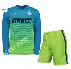 2016-17 Inter Milan Goalkeeper Green LS Thailand Soccer Uniform AAA