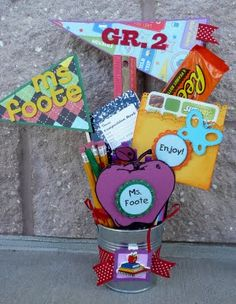 Back to School Gift Bucket