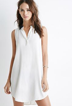 Contrast Collar Popover Dress | Forever 21 | #thelatest