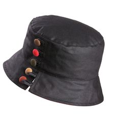 By using a waterproof membrane this smart bucket shaped wax hat is  completely waterproof. 855e7a62a22