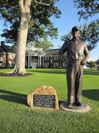 1) French Lick Resort, Pete Dye Course - Pete Dye statue.