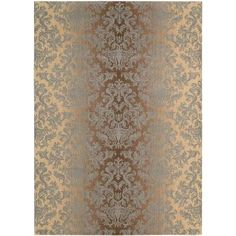 Nourison Riviera Mocha/Beige 7 ft. 9 in. x 10 ft. 10 in. Area Rug-061881 at The Home Depot