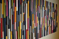 Modern Wood Sculpture Wall Art  Wood Artwork by moderntextures, $1150.00
