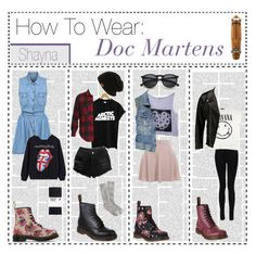 """How To Wear: Doc Martens"" by the-amazing-tip-chickas ❤ liked on Polyvore featuring Dr. Martens, Zara, H&M, J.Crew, Boohoo, Forever 21, VIPARO, Miss Selfridge, Scotch & Soda and Element"