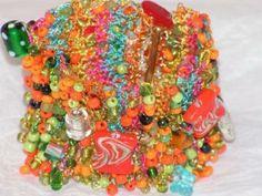 Fiesta - Hand Knitted Wire Bracelet