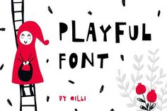Playful Font - Display Typeface by Qilli on @creativemarket