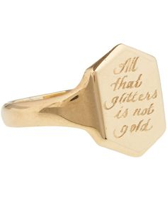 Annina Vogel Gold All That Glitters Engraving Project Signet Ring