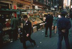 Street market, Soho, 1960s