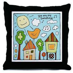 My Sunshine Pillow by ItsyBitsyArt on Etsy, $28.00