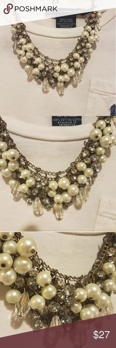 Pearls & Beads Necklace - a Classic Everyday Piece This necklace has a lot of charm! Beaded peals, beads, crystals, etc. Merona Jewelry Necklaces