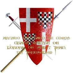 Arnaud Bertrand de Comps. A noble of a long established house from Dauphiné. It was during the fifth crusade when he succeeded Guérin de Montacute Lebun, becoming seventeenth Grand Master of the Knights of Saint John. A rank he held from 1236 to 1240.