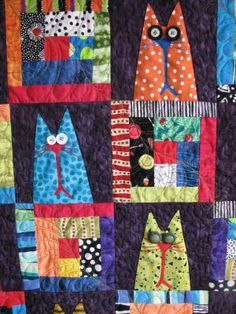 I'm not much of a quilter, but I like the idea of making a quilt with a bunch of funny looking animals on it.