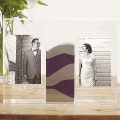 Sandzeremonie Bilderrahmen Rahmen Acryl personalisierbar