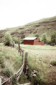 Red barn Photograph valley farm life harvest rustic grandma holidays field mountain Over the hills and through the woods 8x10 fine art photo. $25.00, via Etsy.