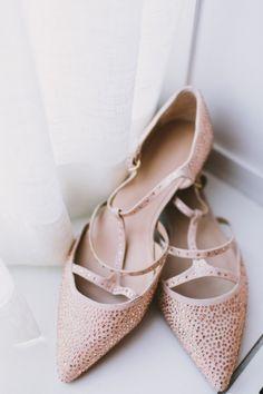 Wedding Shoes, Christian Louboutin, Photo: Nicole Baas Photography - Massachusetts Wedding http://caratsandcake.com/audrenaandtimothy