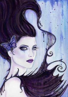 ORIGINAL fantasy portrait painting  By by TheArtOfReneeLLavoie, $125.00