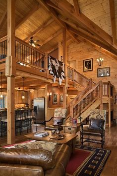 Cozy log cabin.