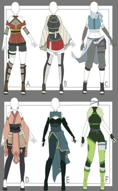 Naruto Outfit Adoptables 6 Closed By Xnoakix3 On Deviantart