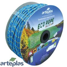 Corda ECO ROPE Colorida Carretel  3,4,6,8,10 e 12 mm. * Multiuso *