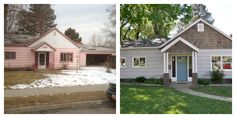 before after home flip house exterior