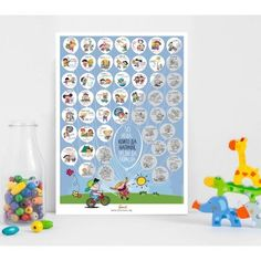"Скреч постер за деца ""50 неща, които да направя, преди да порасна"" Baby Box, Everything Baby, Advent Calendar, Holiday Decor, Frame, Poster, Home Decor, Picture Frame, Decoration Home"