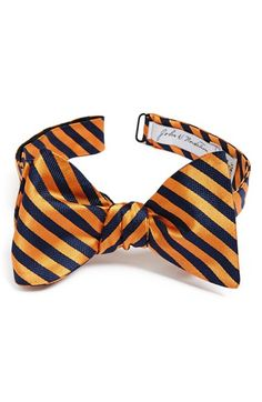John W. Nordstrom® Silk Bow Tie available at Bowtie Pattern, Green Bow Tie, Silk Bow Ties, Nordstrom, Stripes, Bows, Accessories, Fashion, Arches