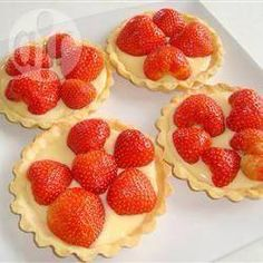 Chilled Strawberry Tarts  https://www.facebook.com/photo.php?fbid=1502254683343880&set=a.1386612591574757.1073741828.100006780878800&type=1&theater