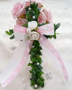 Dekoration - 3 Kreuze Tischdeko Kommunion Konfirmation rosa - ein Designerstück von Lavendel222 bei DaWanda
