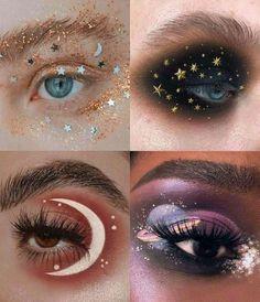 Edgy Makeup, Makeup Eye Looks, Eye Makeup Art, Fairy Makeup, Crazy Makeup, Cute Makeup, Pretty Makeup, Makeup Meme, Anime Eye Makeup