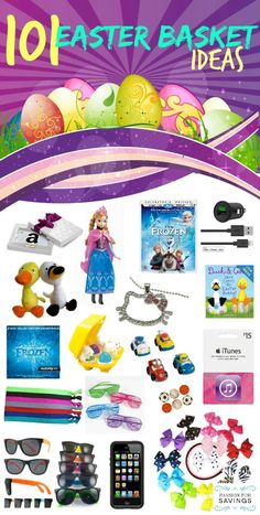 20 ideas for healthy easter basket easter pinterest easter 101 non candy easter basket ideas fun treats and toys for kids negle Choice Image