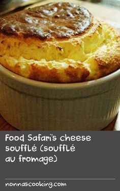 Food Safari's cheese soufflé (soufflé au fromage)   A mix of simple ingredients and clever techniques makes the light and creamy masterpiece that is soufflé. Use the best cheese you can source and serve straight away. For a tasty variation, try Vincent Gadan's raspberry souffle recipe. Also, browse our cake recipes for more sweet inspiration. Delicious Cake Recipes, Best Cake Recipes, Yummy Cakes, Sweet Recipes, Yummy Food, Sour Cream Uses, Cheese Souffle, Souffle Recipes, Simple Cakes