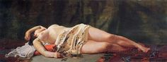 Reclining Nude by Jean-Frederic Bazille