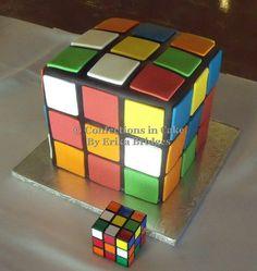 3-D Rubik's Cube groom's cake