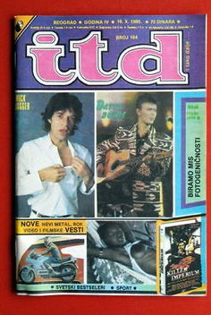 Mick Jagger David Bowie On Cover 1985 Exyu Magazine